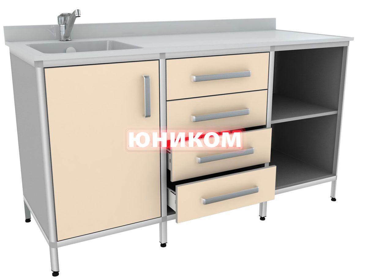 Стол для химических исследований с мойкой (мойка слева) СКДЛ 2-2 (Серия ИДЕАЛ)