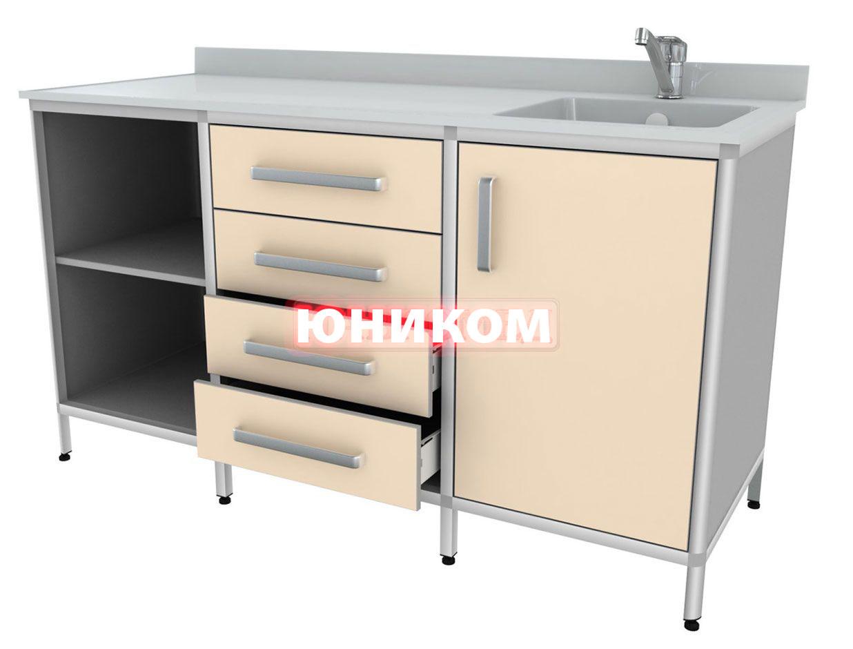 Стол для химических исследований с мойкой (мойка справа) СКДЛ 2-2 (Серия ИДЕАЛ)