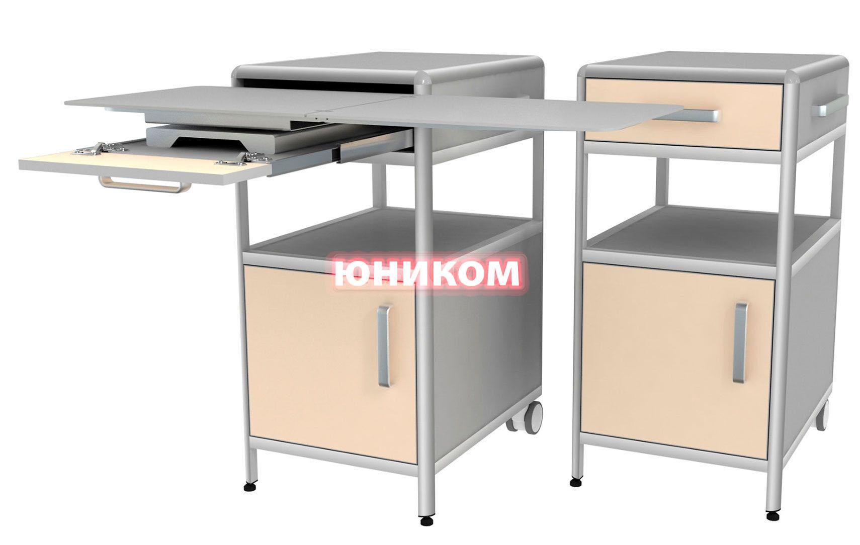 Тумба прикроватная с выдвижным столиком (двухсторонняя) ТПП-1/С (Серия ИДЕАЛ)